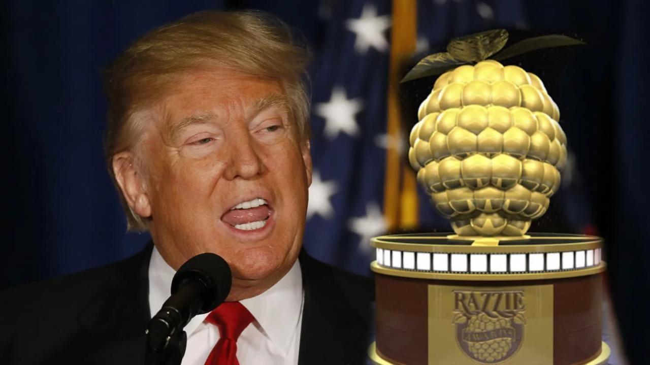 دونالد ترامپ نامزد تمشک طلایی بدترین بازیگر مرد سال!